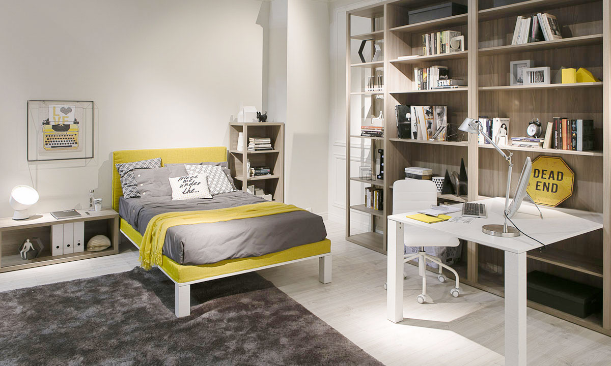 DIELLE MODUS: NUOVO LETTO STYLE-style bed Nuove camerette al Salone del Mobile 2017