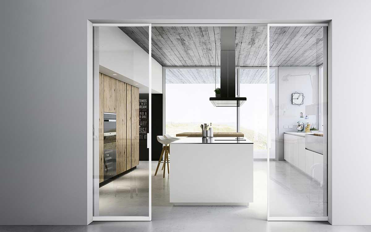 Citydoors di doimo nuovo concept porte interni - Porta scorrevole filo muro ...
