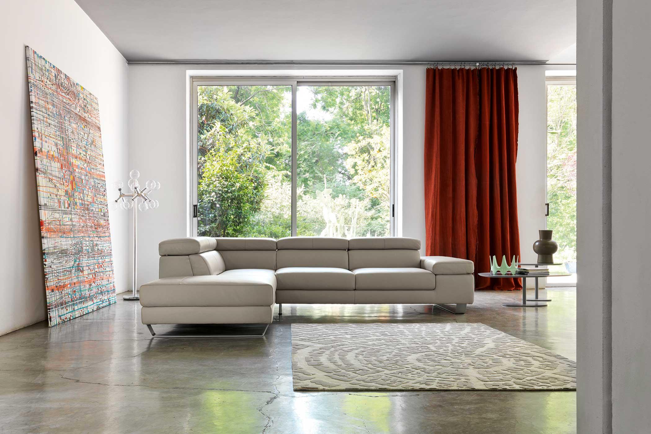 Doimo Salotti - collezione emporio divani in pelle modello Alison.
